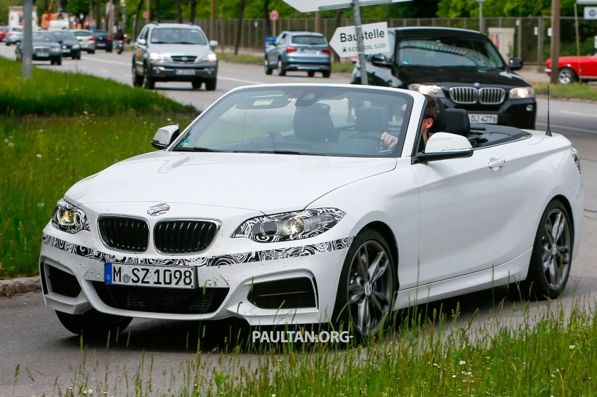 BMW 2-Series Cabriolet spied nearly undisguised Image #246466