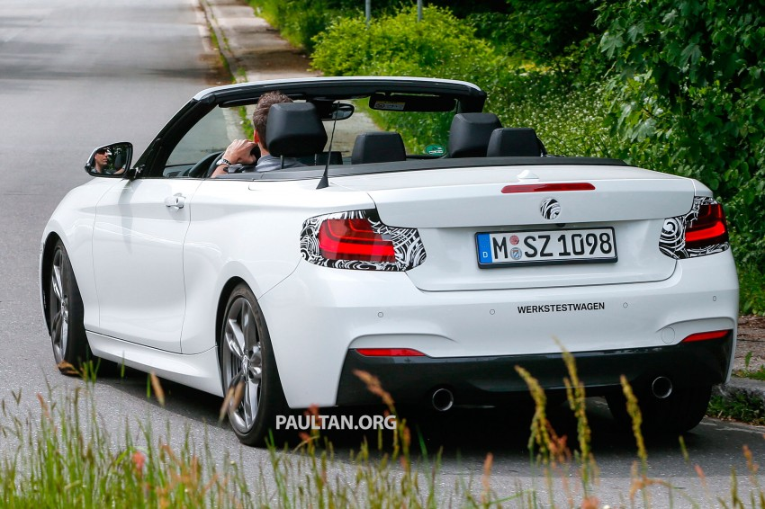 BMW 2-Series Cabriolet spied nearly undisguised Image #246464