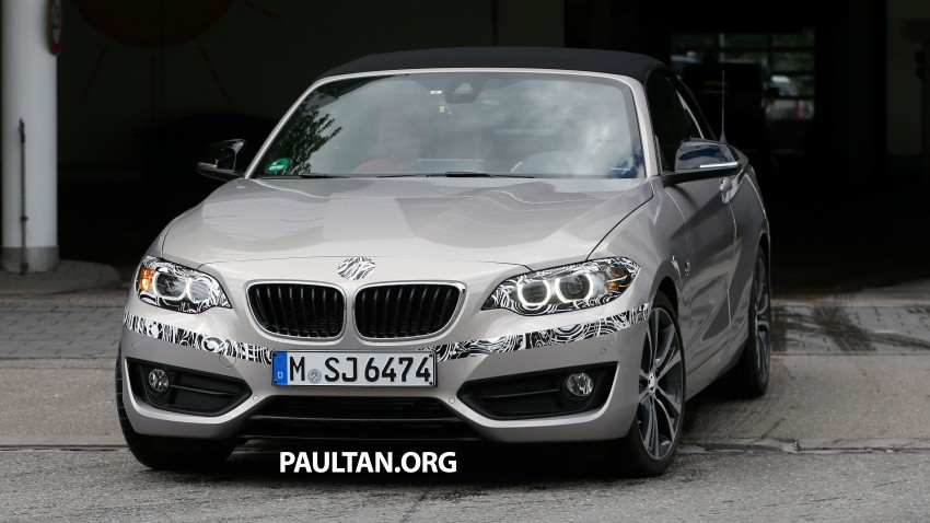 BMW 2-Series Cabriolet spied nearly undisguised Image #248307