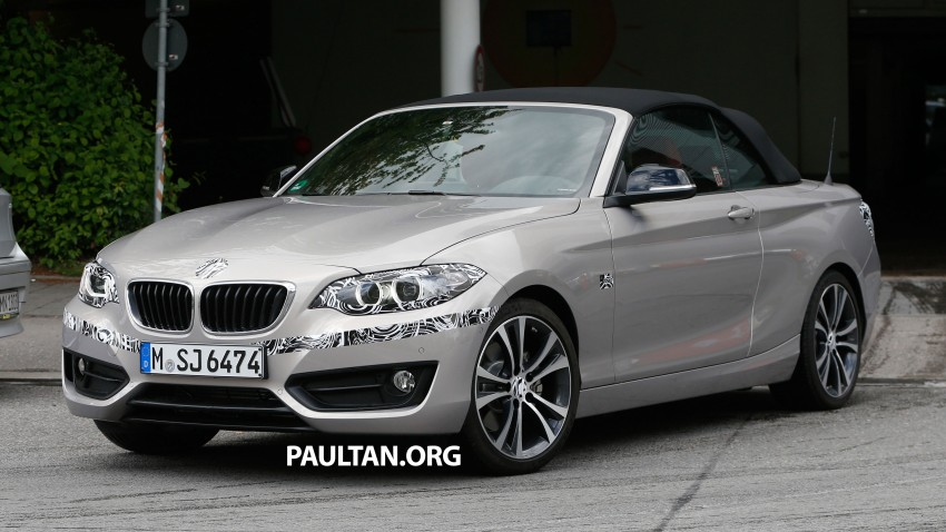 BMW 2-Series Cabriolet spied nearly undisguised Image #248306