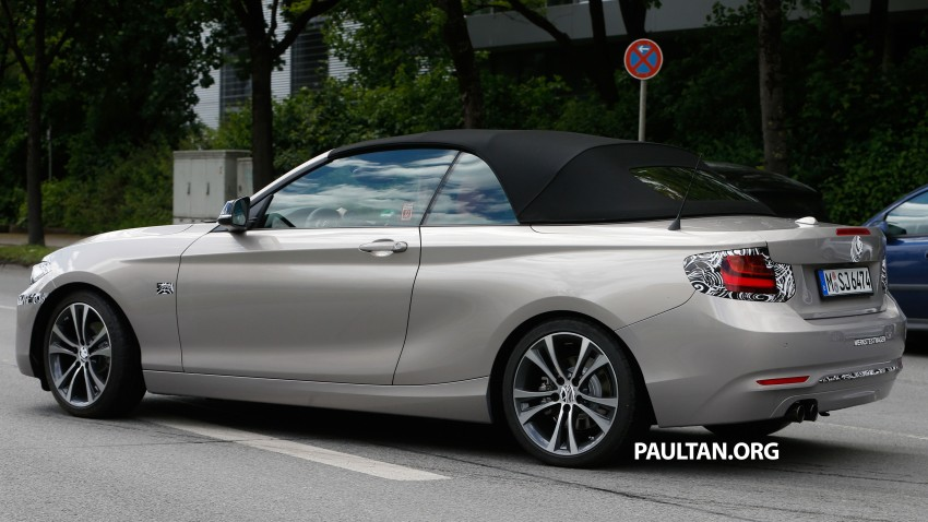 BMW 2-Series Cabriolet spied nearly undisguised Image #248304