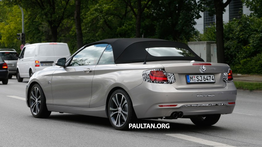 BMW 2-Series Cabriolet spied nearly undisguised Image #248309