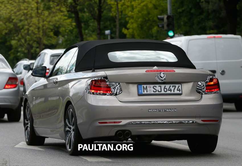 BMW 2-Series Cabriolet spied nearly undisguised Image #248308