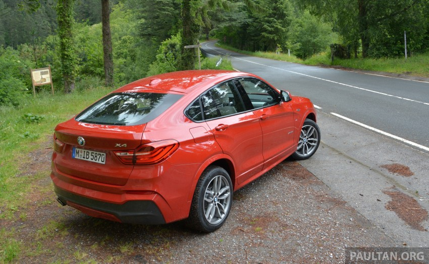 DRIVEN: F26 BMW X4 – the X3 redrawn as a 'coupe' Image #252155