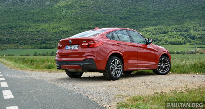 DRIVEN: F26 BMW X4 – the X3 redrawn as a 'coupe' Image #252110