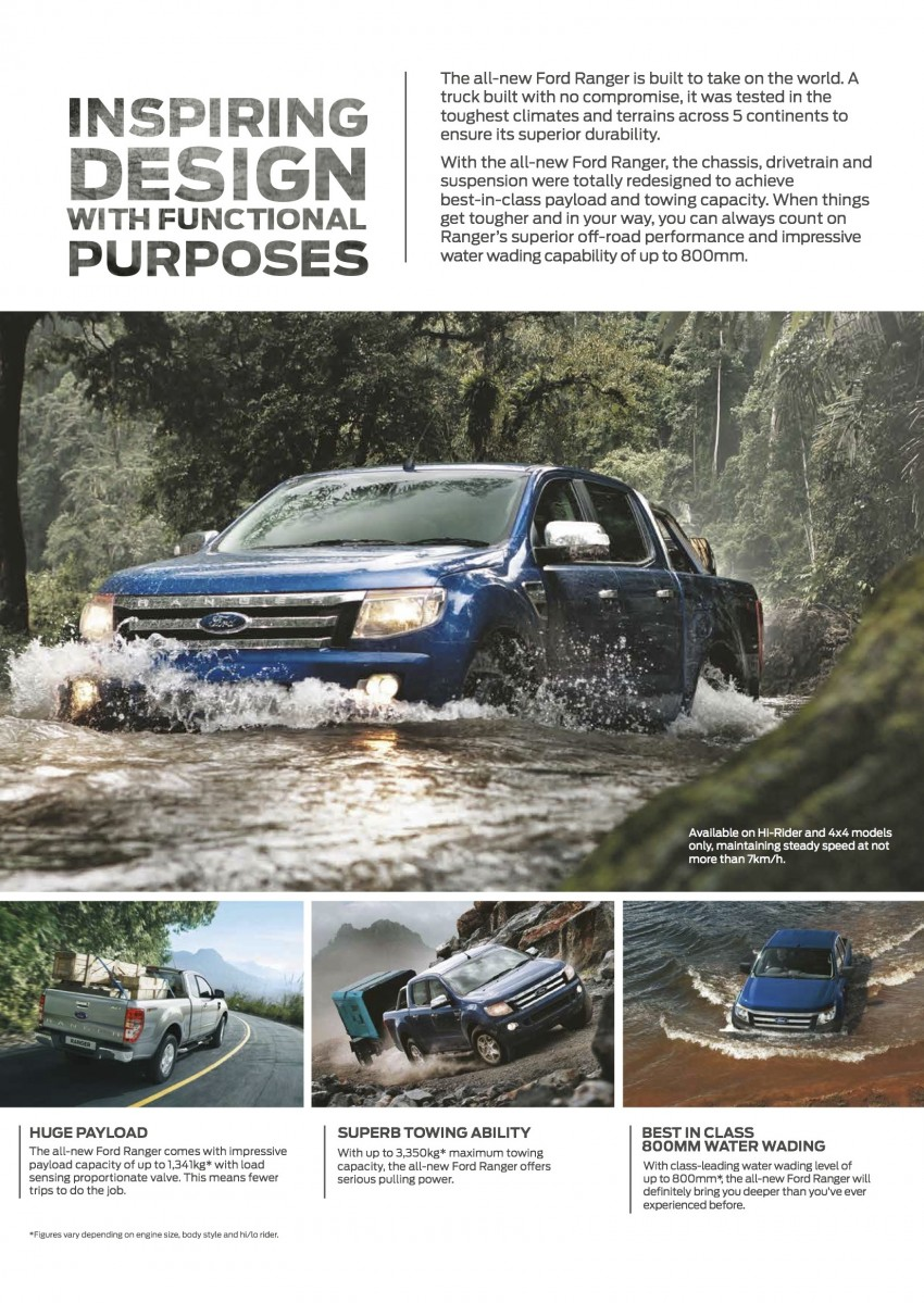 Ford Ranger updated – ESP, 3-point belts and ISOFIX Image #250685