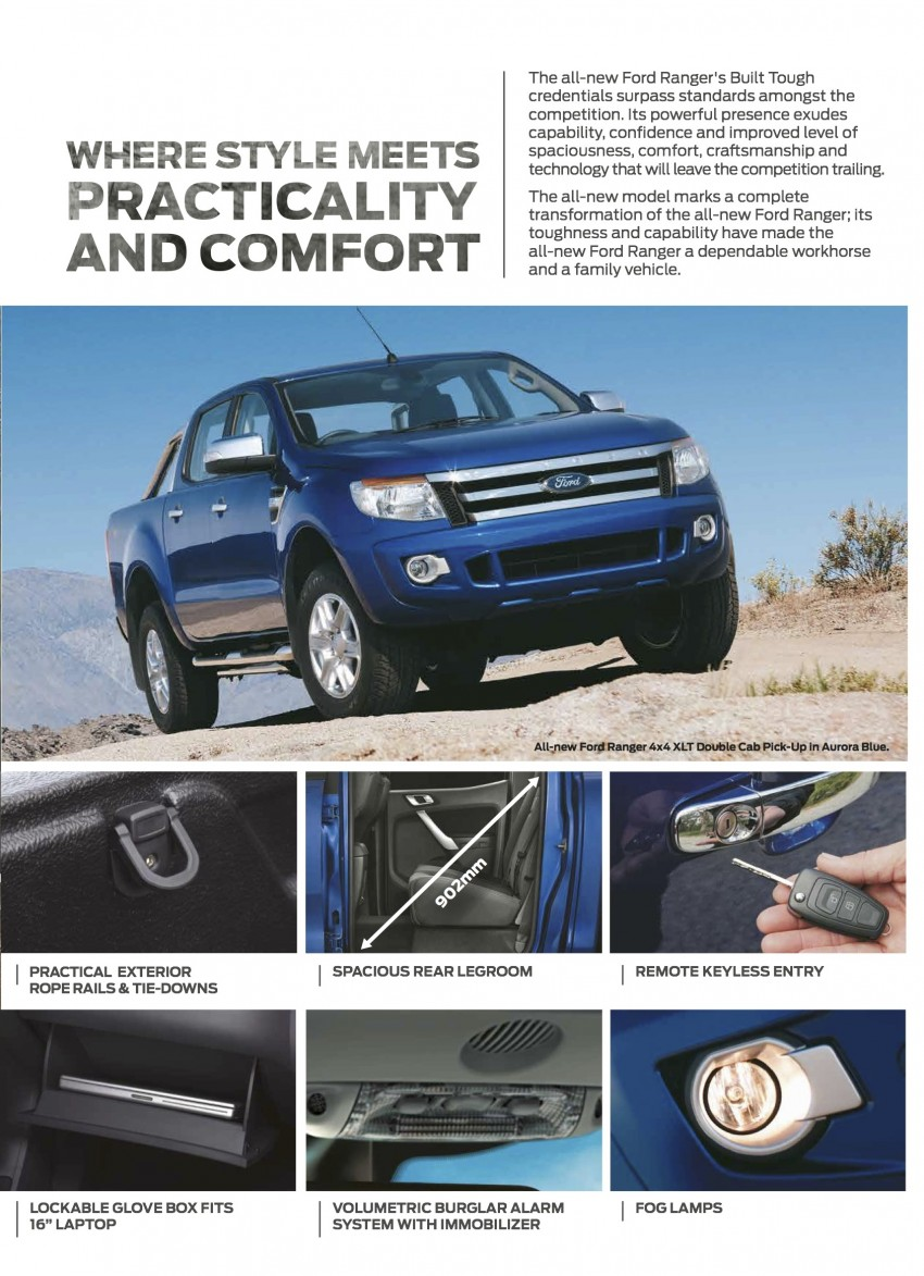 Ford Ranger updated – ESP, 3-point belts and ISOFIX Image #250686