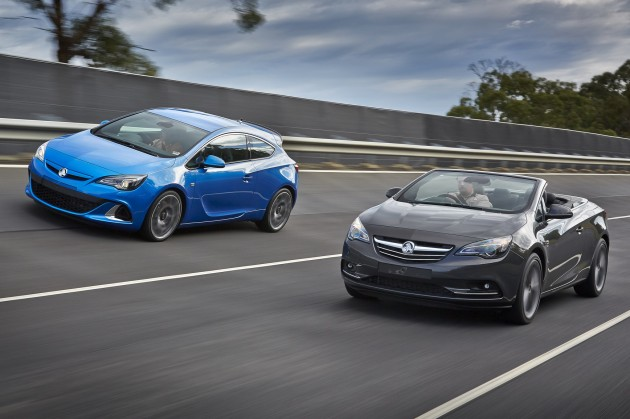 Holden Cascada and Astra VXR Driving