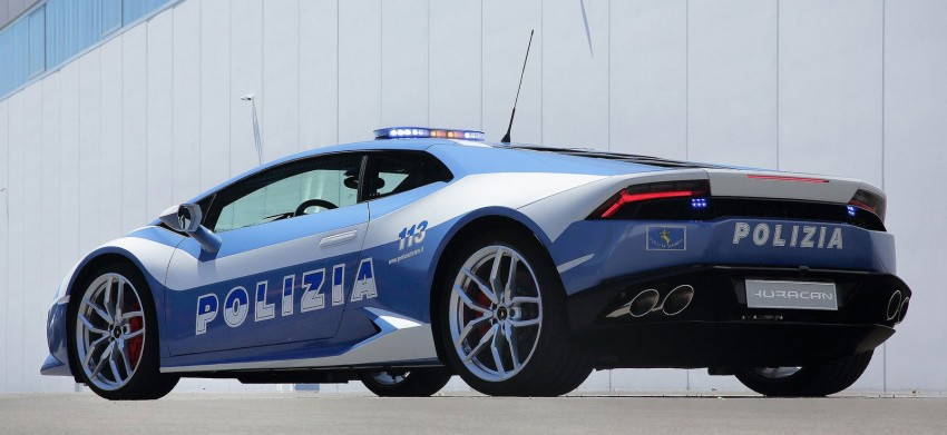 Lamborghini Huracan LP610-4 Polizia in hot pursuit Image #249447