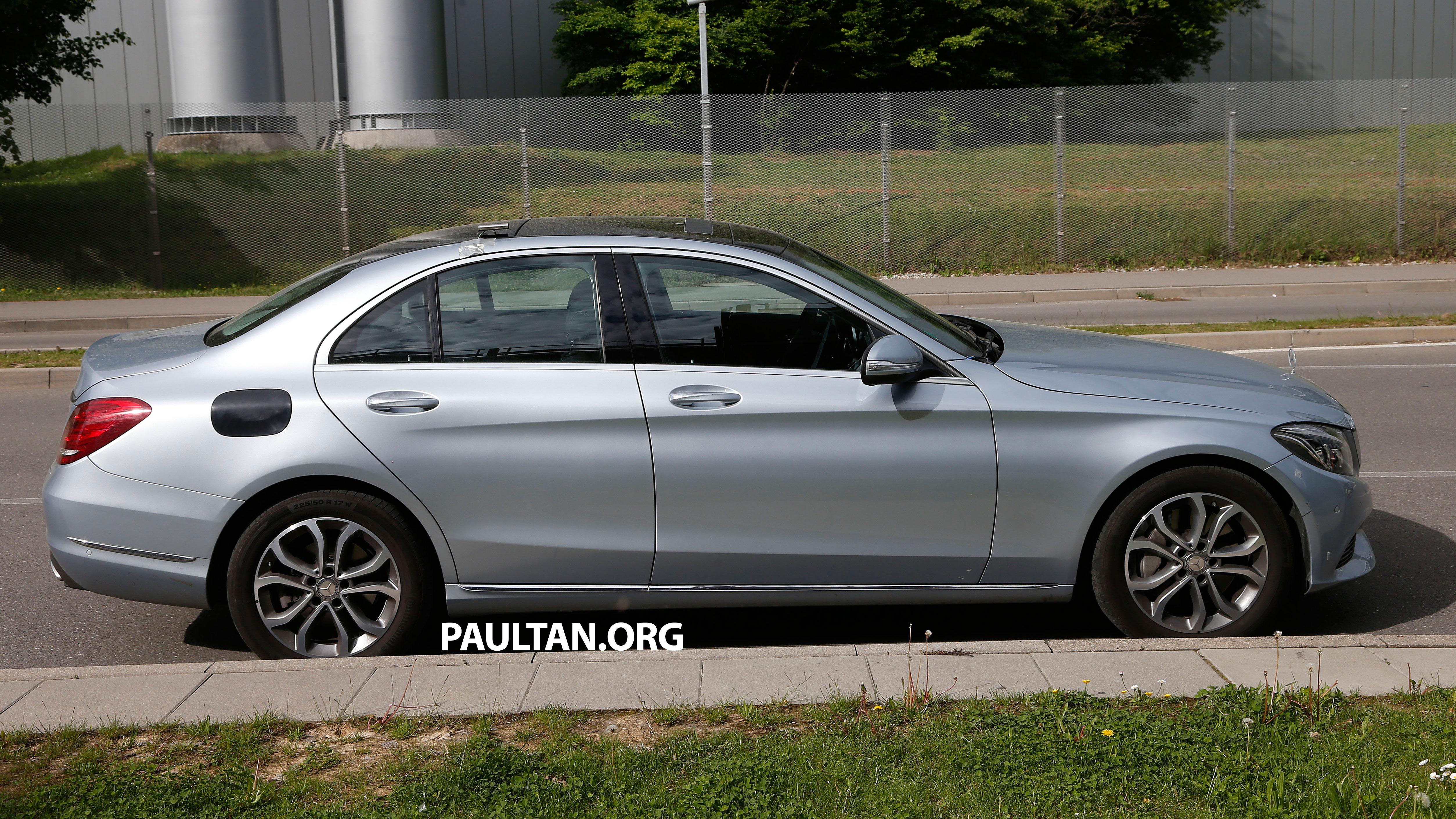 Spyshots mercedes benz c class plug in hybrid paul tan for Mercedes benz c class hybrid