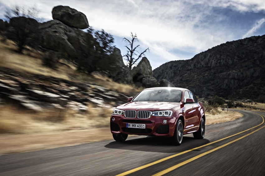 DRIVEN: F26 BMW X4 – the X3 redrawn as a 'coupe' Image #250171