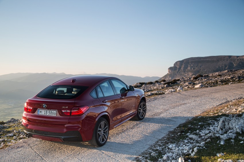 DRIVEN: F26 BMW X4 – the X3 redrawn as a 'coupe' Image #250035