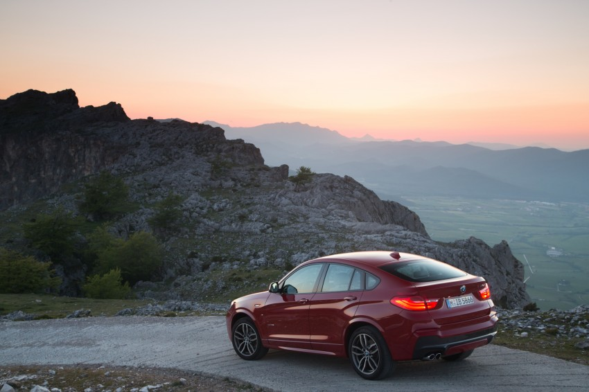 DRIVEN: F26 BMW X4 – the X3 redrawn as a 'coupe' Image #250110