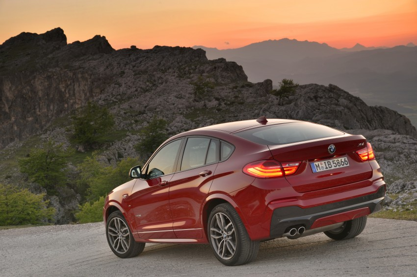 DRIVEN: F26 BMW X4 – the X3 redrawn as a 'coupe' Image #250051