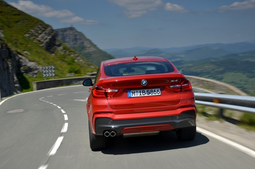 DRIVEN: F26 BMW X4 – the X3 redrawn as a 'coupe' Image #250147