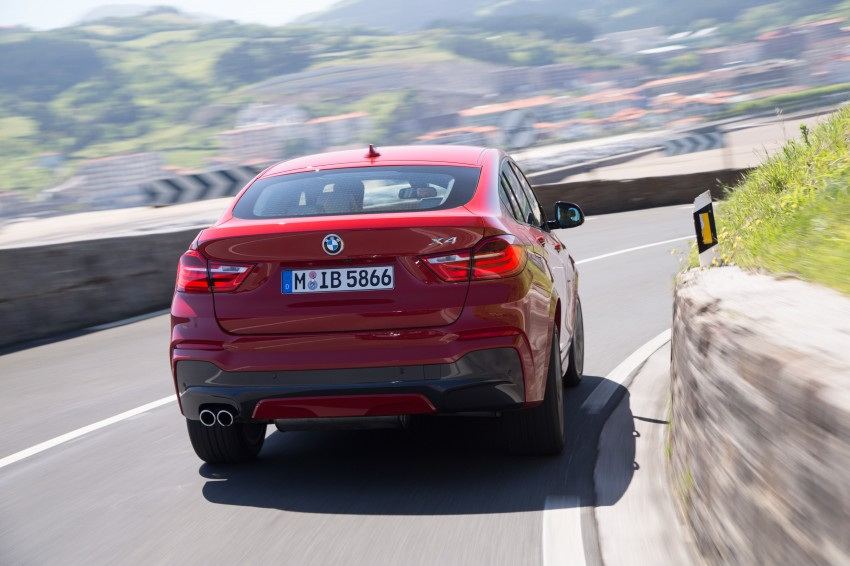 DRIVEN: F26 BMW X4 – the X3 redrawn as a 'coupe' Image #250123