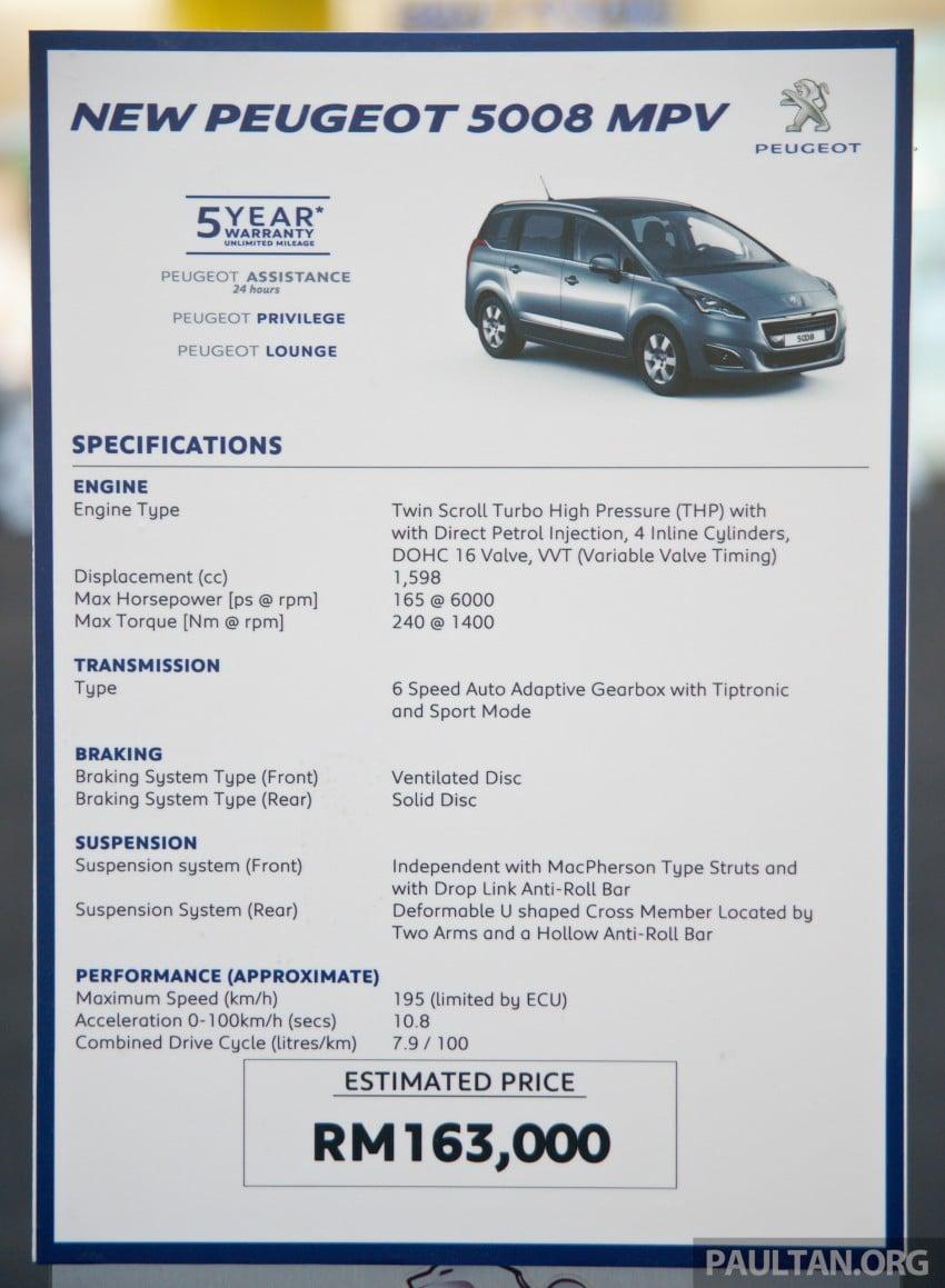 Peugeot 5008 facelift previewed – RM163k estimated Image #247407