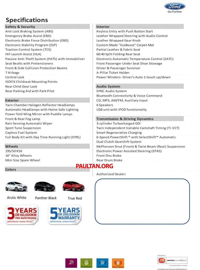 Ford Fiesta 1.0 EcoBoost launched – RM93,888 Image #245500
