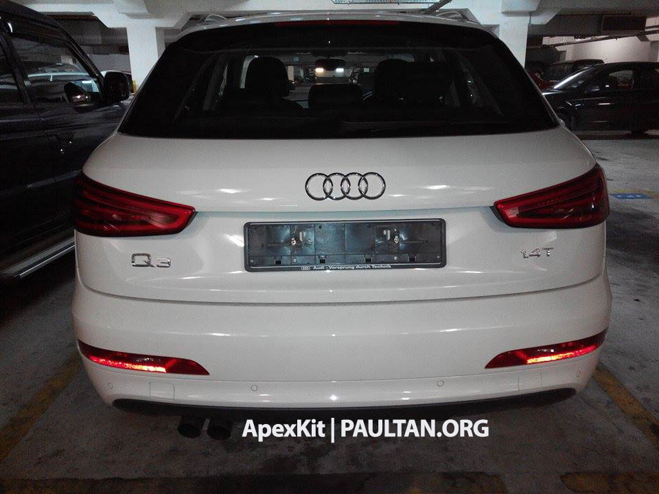 Spied Audi Q3 1 4 Tfsi At Jpj New Local Variant Paul