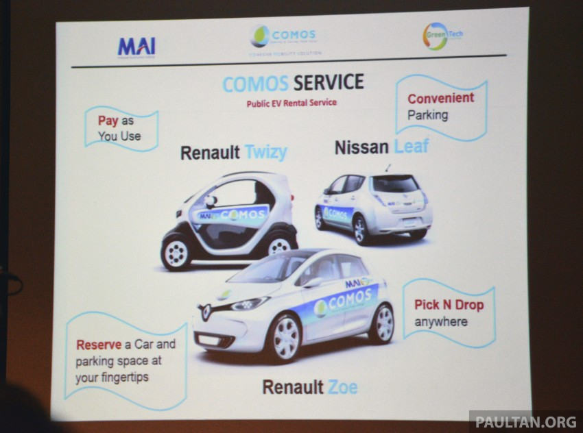COMOS EV car-sharing programme to launch in August – rent a Twizy, Zoe or Leaf in KL, by the hour Image #246313