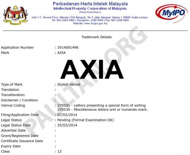 perodua new release carPerodua Axia not the only name submitted  Aminar