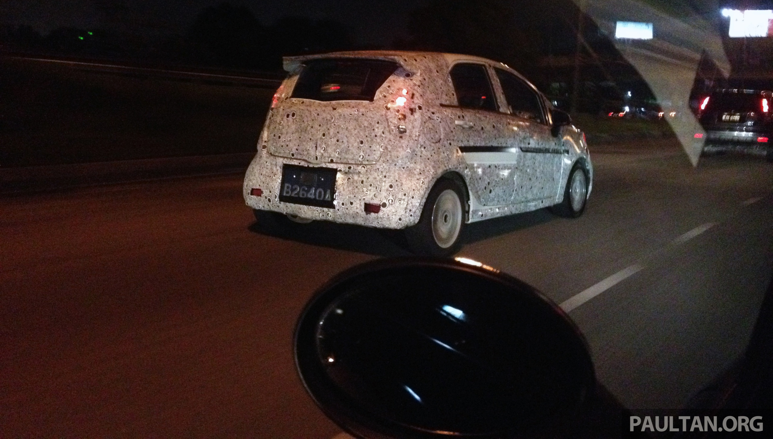 Proton Global Small Car P2-30A spied on Fed Highway