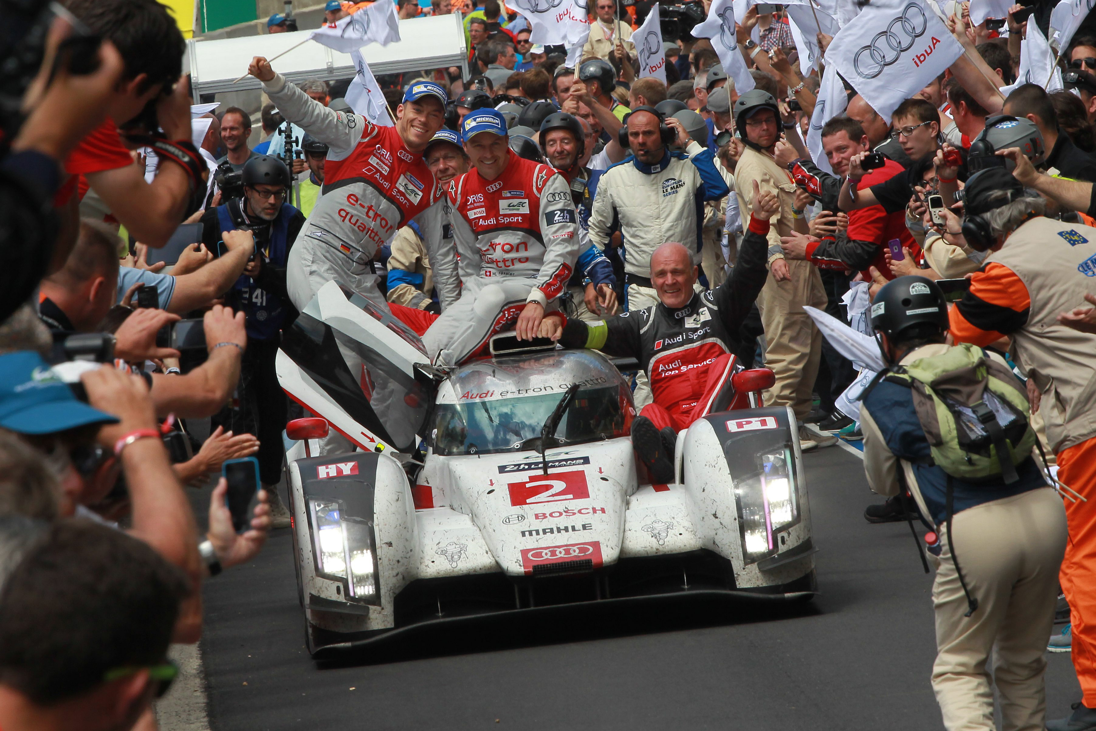 Le Mans 2014 Audi 1 2 Marks 13th Win For Ingolstadt