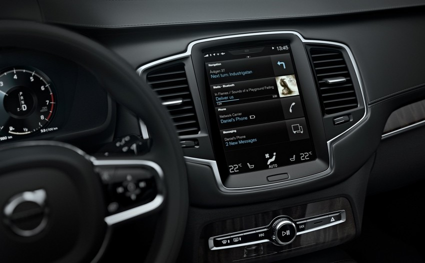 Volvo XC90 – next-gen in-car control system revealed Image #251556