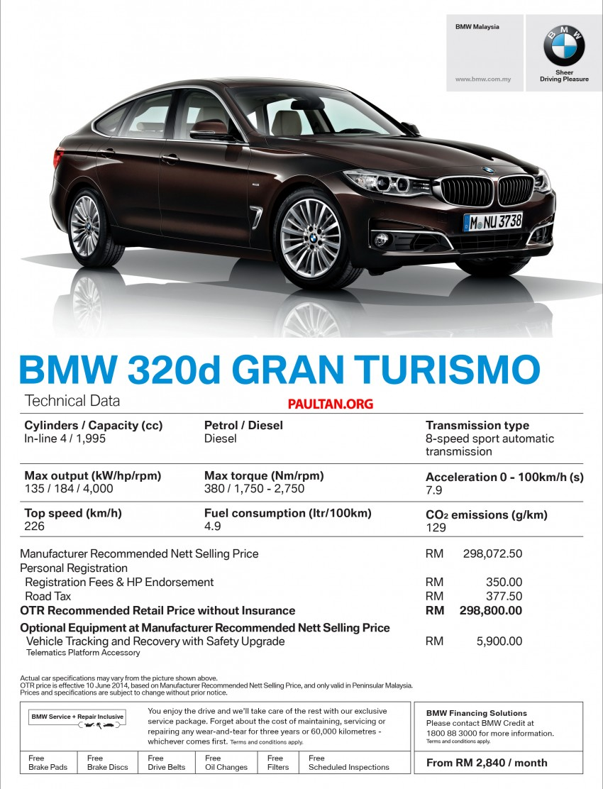 Bmw 3 Series Gran Turismo Ckd Now Available 328i Gt Sport Rm330k 320d Gt Luxury Rm300k Image