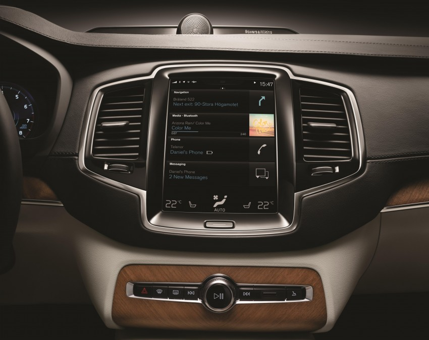 Volvo XC90 – next-gen in-car control system revealed Image #251549