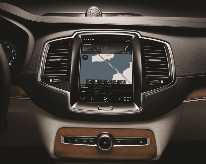 Volvo XC90 – next-gen in-car control system revealed Image #251551