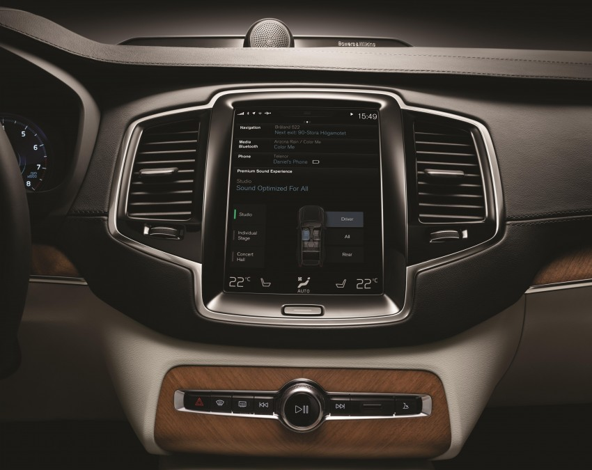 Volvo XC90 – next-gen in-car control system revealed Image #251554