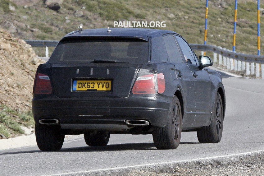 SPYSHOTS: Production Bentley SUV sighted on test Image #255187