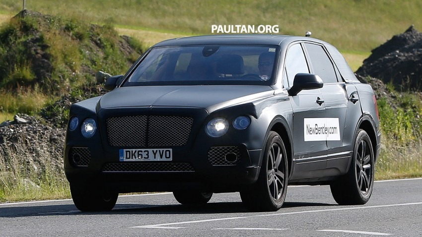SPYSHOTS: Production Bentley SUV sighted on test Image #253763
