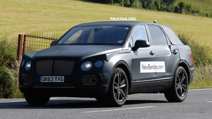 SPYSHOTS: Production Bentley SUV sighted on test Image #253762