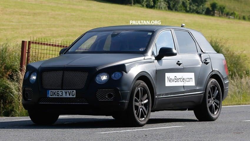 SPYSHOTS: Production Bentley SUV sighted on test Image #253762
