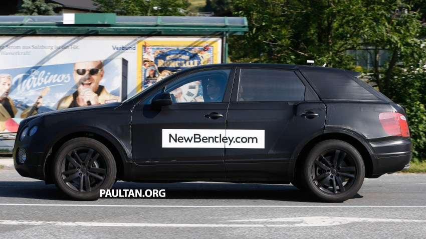 SPYSHOTS: Production Bentley SUV sighted on test Image #253760
