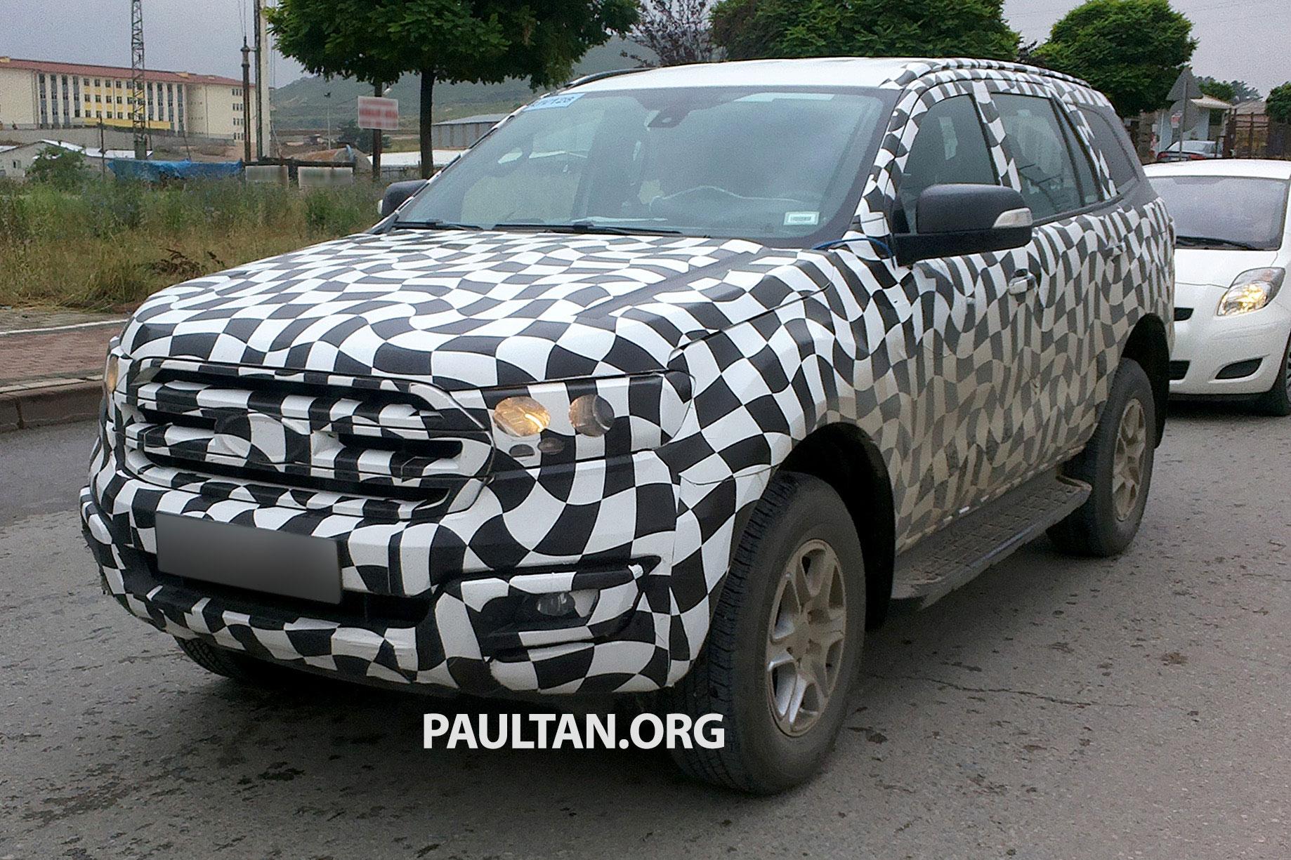 SPYSHOTS: Ford Ranger Facelift And New Ford Everest