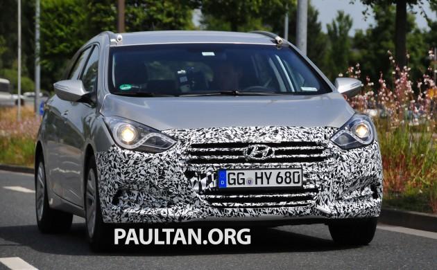 spyshots: hyundai i40 tourer facelift on test