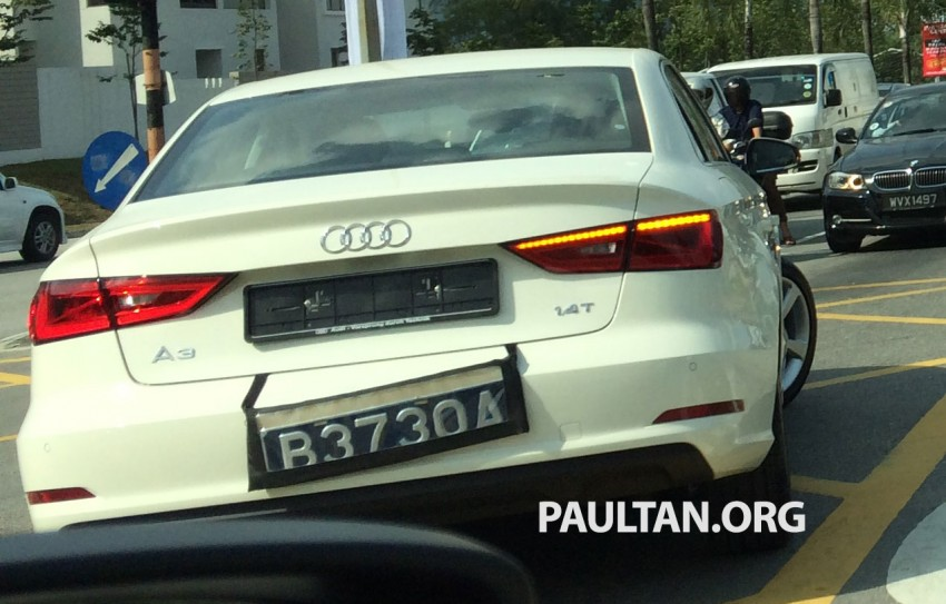 SPYSHOTS: Audi A3 Sedan 1.4T sighted in Glenmarie Image #255068