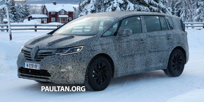 SPYSHOTS: Renault Espace – next generation French MPV to ride higher like a crossover Image #253052
