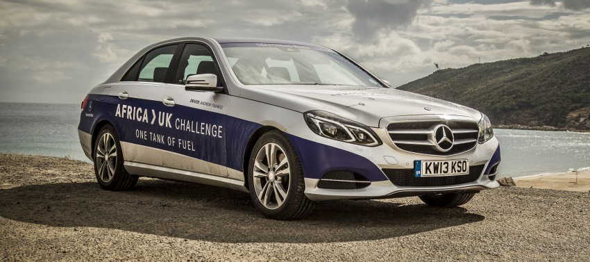 Mercedes-Benz E 300 BlueTEC Hybrid shows what diesel hybrid can do – Africa-UK on one tank Image #256190