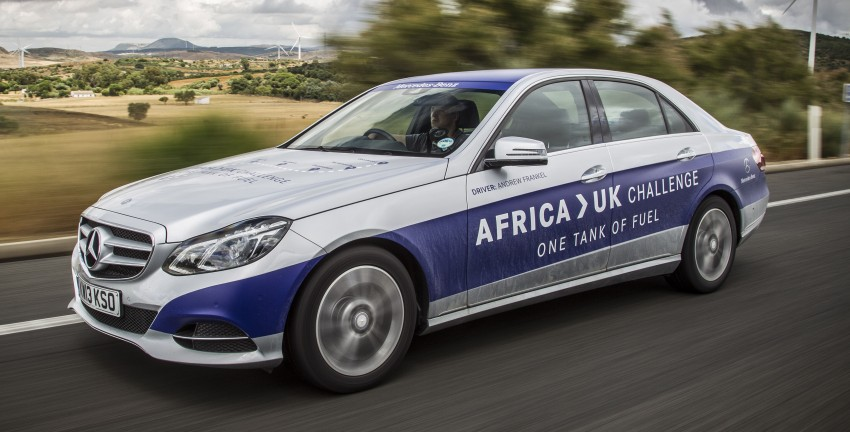 Mercedes-Benz E 300 BlueTEC Hybrid shows what diesel hybrid can do – Africa-UK on one tank Image #256191