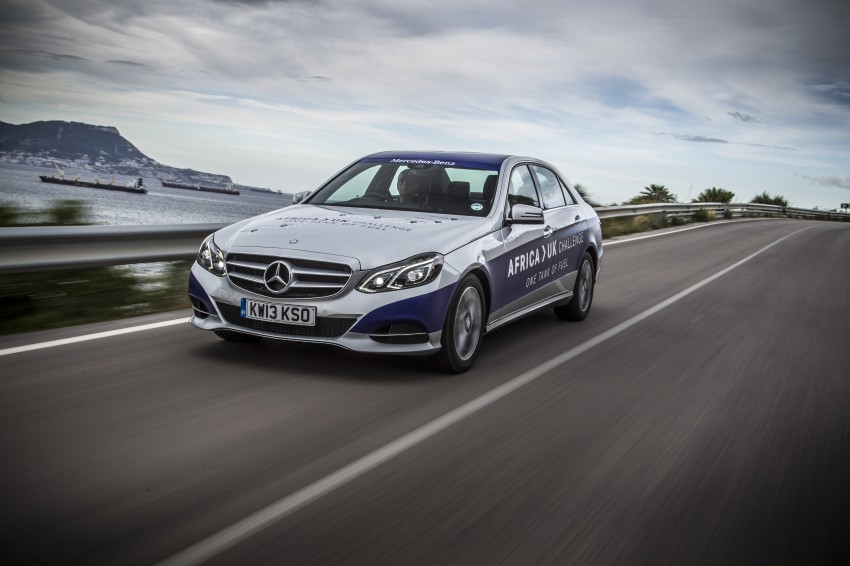 Mercedes-Benz E 300 BlueTEC Hybrid shows what diesel hybrid can do – Africa-UK on one tank Image #256192