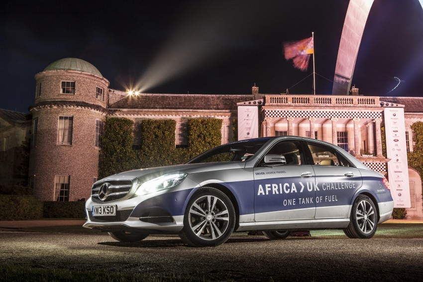 Mercedes-Benz E 300 BlueTEC Hybrid shows what diesel hybrid can do – Africa-UK on one tank Image #256197