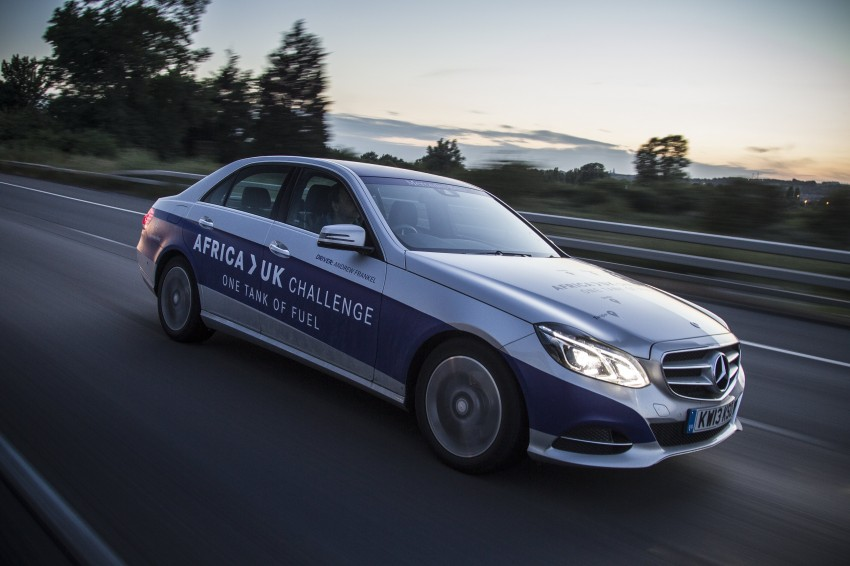 Mercedes-Benz E 300 BlueTEC Hybrid shows what diesel hybrid can do – Africa-UK on one tank Image #256199