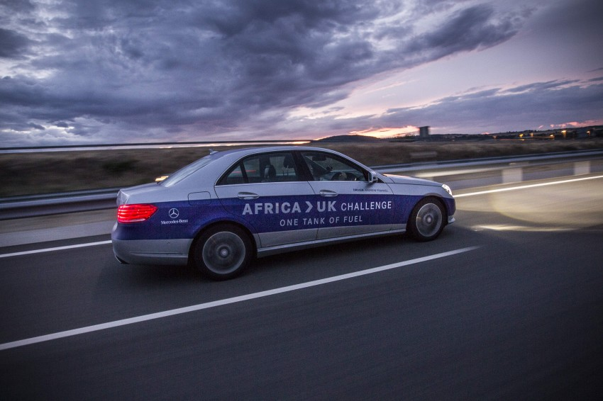 Mercedes-Benz E 300 BlueTEC Hybrid shows what diesel hybrid can do – Africa-UK on one tank Image #256203