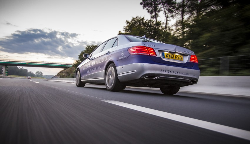 Mercedes-Benz E 300 BlueTEC Hybrid shows what diesel hybrid can do – Africa-UK on one tank Image #256205