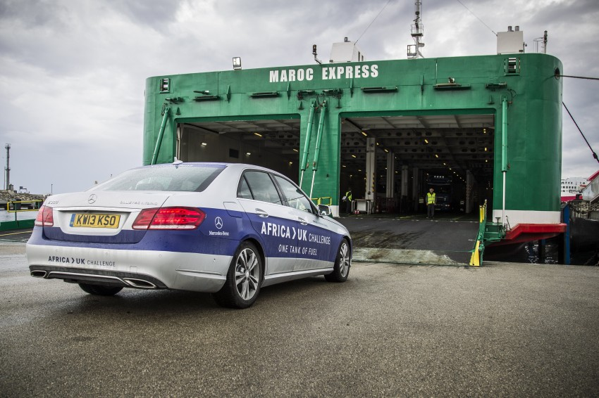 Mercedes-Benz E 300 BlueTEC Hybrid shows what diesel hybrid can do – Africa-UK on one tank Image #256208