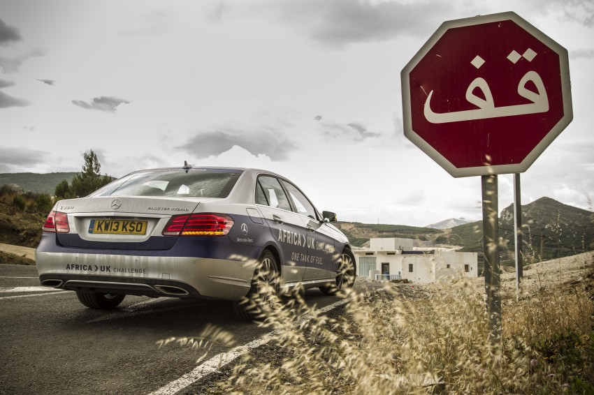 Mercedes-Benz E 300 BlueTEC Hybrid shows what diesel hybrid can do – Africa-UK on one tank Image #256209